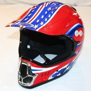 XXL RETRO Stars & Stripes MX Helmet